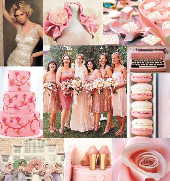 pink champagne wedding colors