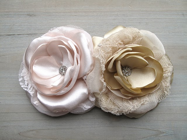 wedding fabric flowers