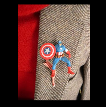 super hero boutonniere