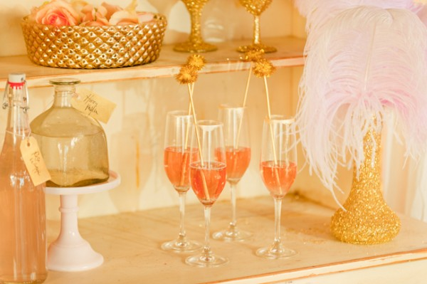 pink champagne wedding details