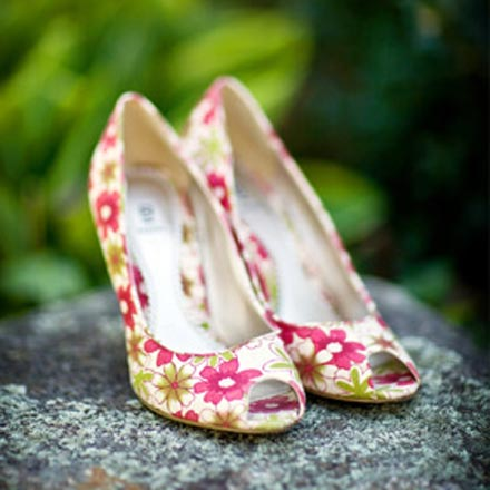 floral pattern wedding shoes