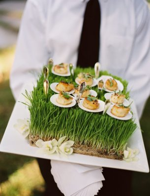 grass wedding ideas
