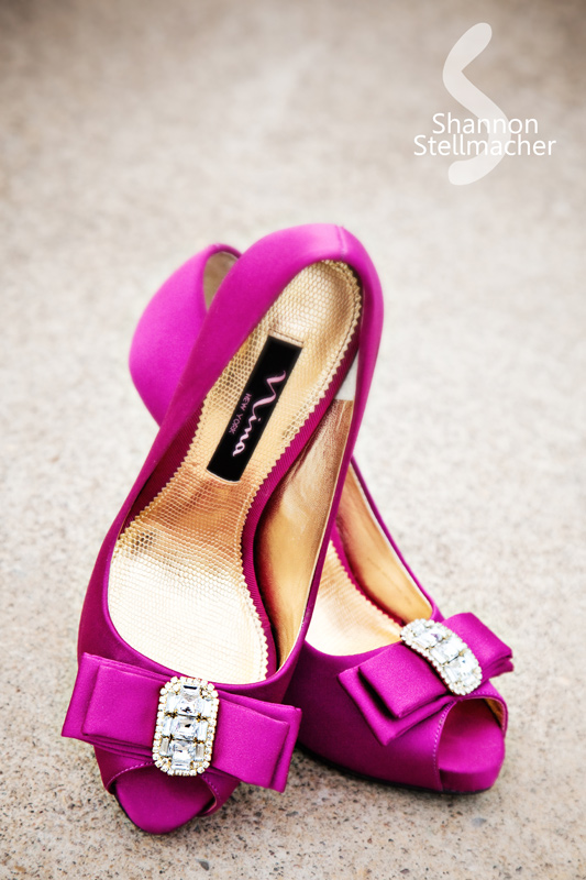 hot pink wedding shoes Photo credit found on Pink Girl Wood