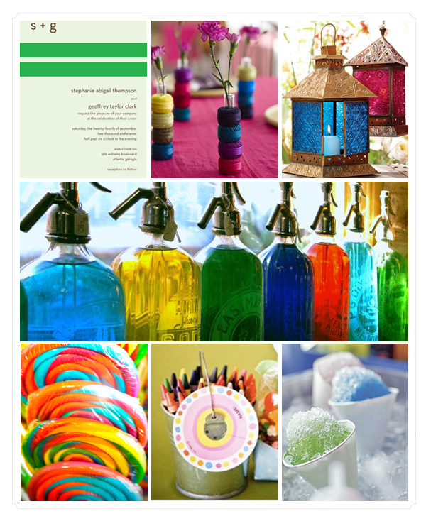 rainbow wedding details