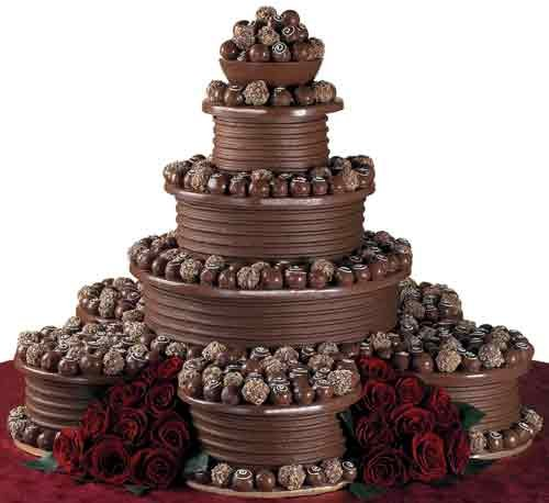 all chocolate wedding cakes