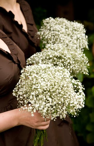 baby's breath bridesmaids bouquet