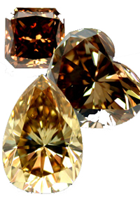 coloured diamonds brown browndiamonds diamond fancy