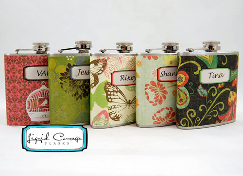 bridesmaids flask gifts