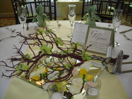 green branch centerpieces