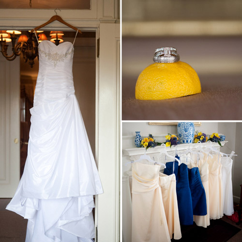 yellow blue wedding