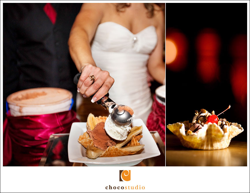 wedding ice cream bar