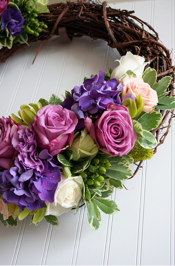 floral wedding wreath