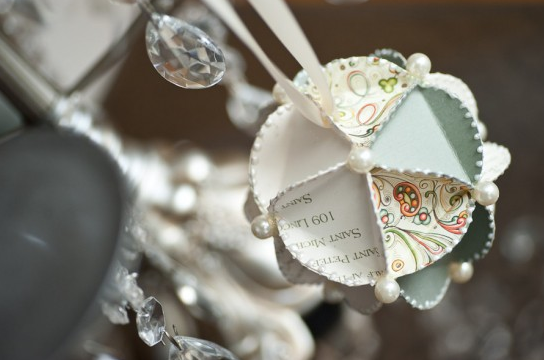 Wedding Keepsake Invitation Ornaments
