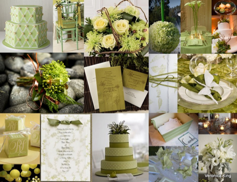 green wedding details