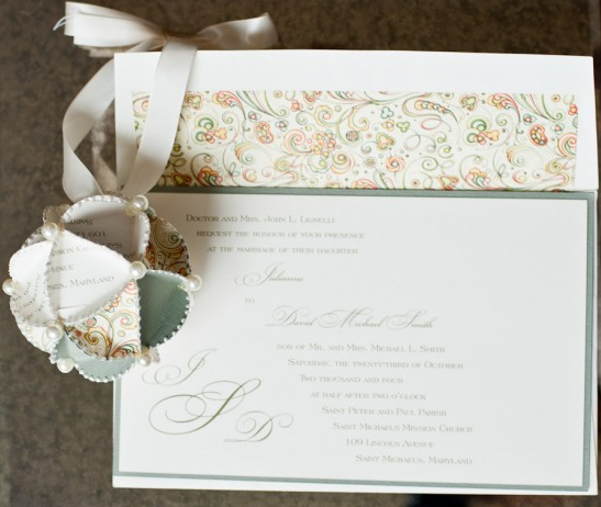 ornament from wedding invitations