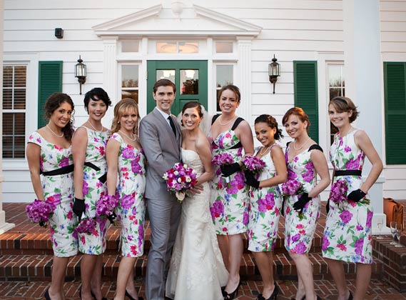 Bridesmaid Dresses: Colorful Patterns