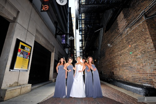 cool bridal party photos