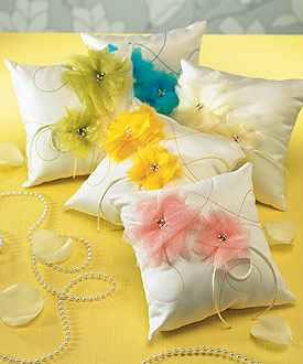 colorful ring pillow