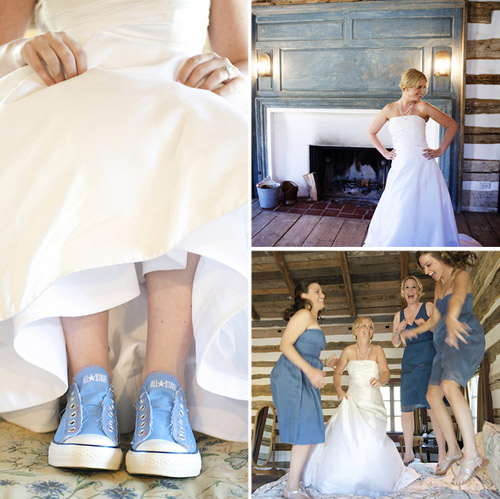 bride in sneakers