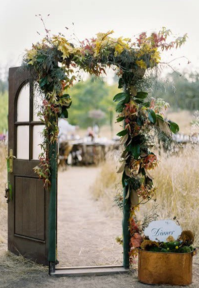 wedding ceremony doorway