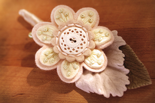 fabric flower wedding details