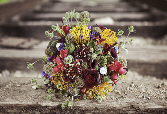 wedding bouquet texture
