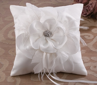 all white ring pillow