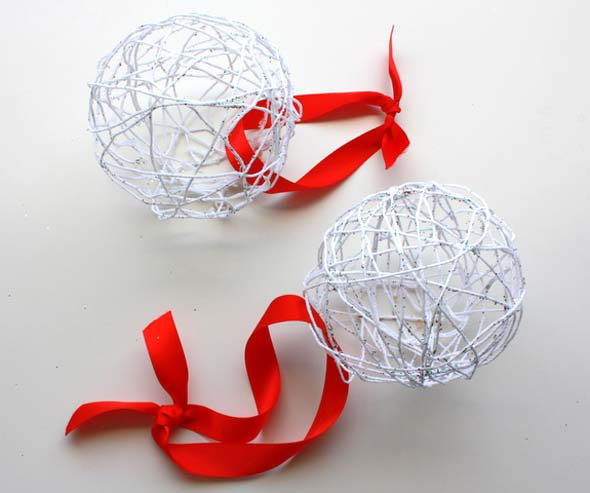 diy string ornaments