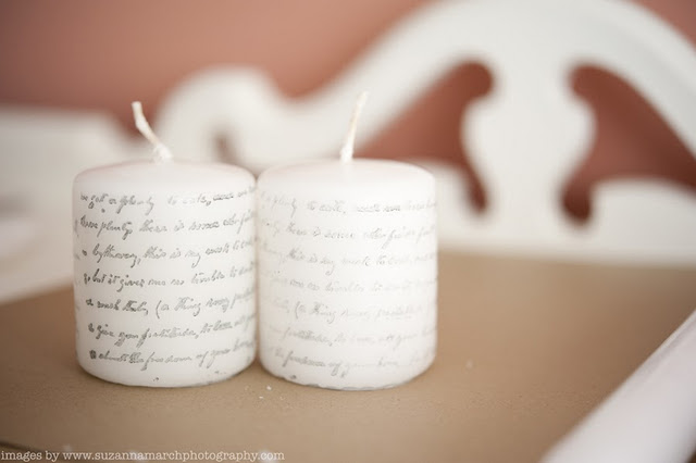 diy stamped candles