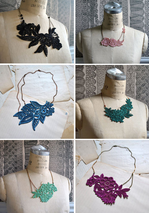 colored lace jewelry