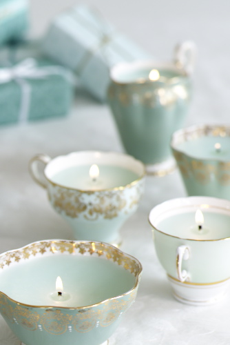 diy wedding candles