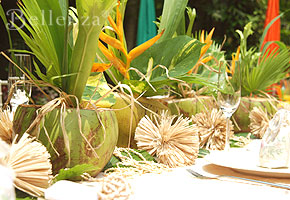luau party centerpieces