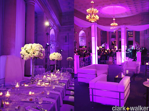 colored wedding lighting