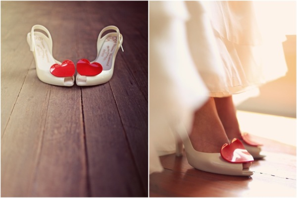 hearts wedding shoes