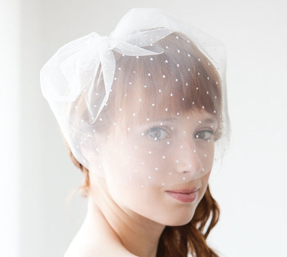 shirt wedding veil