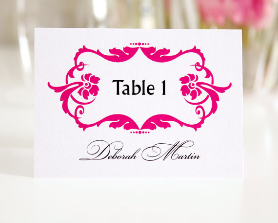 hot pink table numbers