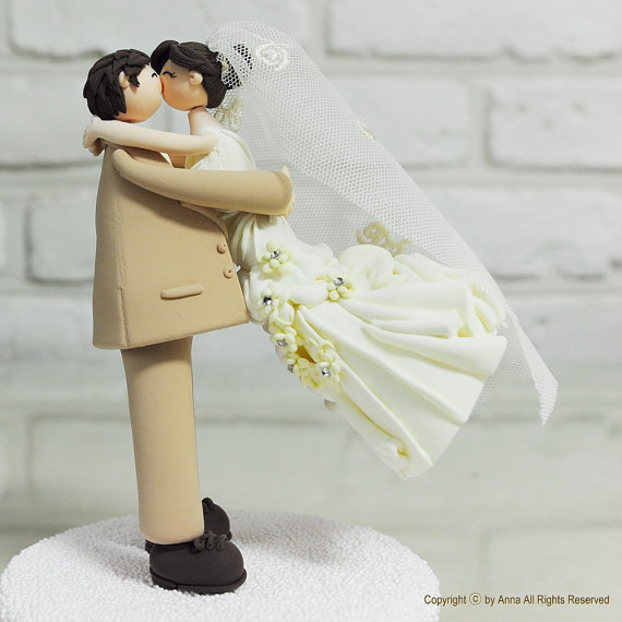 bride groom cake topper