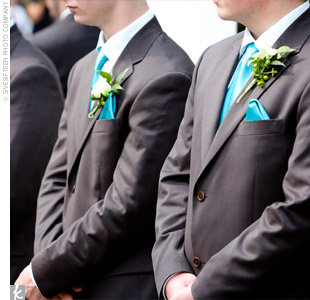 groomsmen blue ties