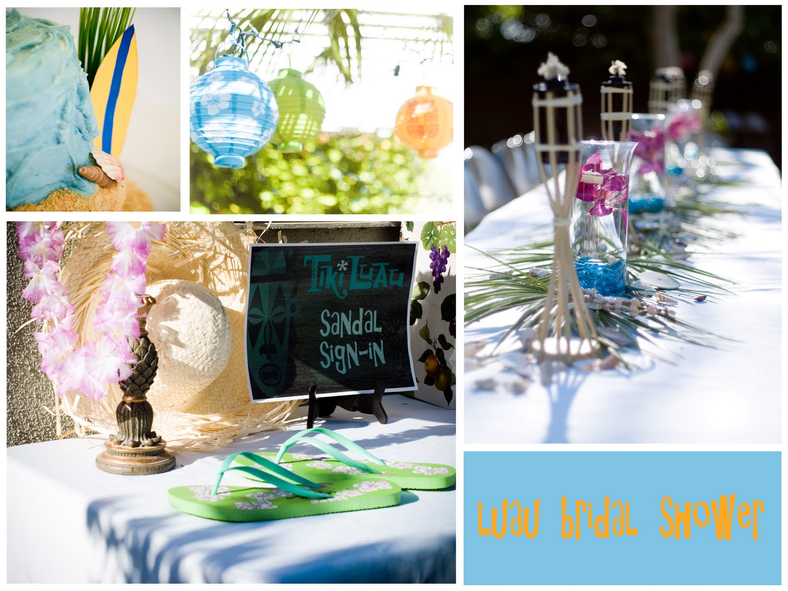 luau wedding shower
