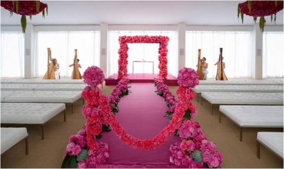 pave-floral-design-chic-pink-wedding-carnations-peonies-monochromatic-wedding-ceremony-arbor