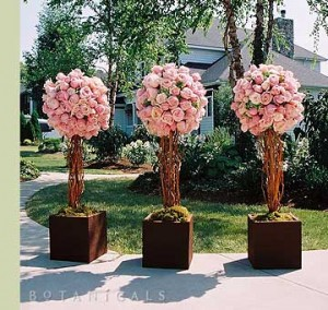 floral wedding topiary