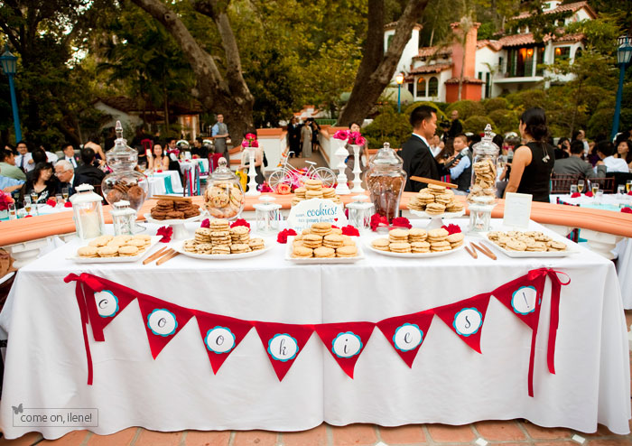 wedding cookie buffets