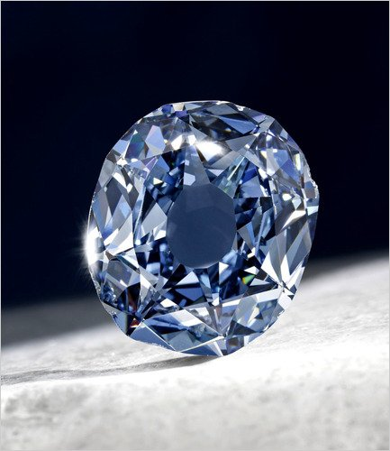 blue wedding diamond