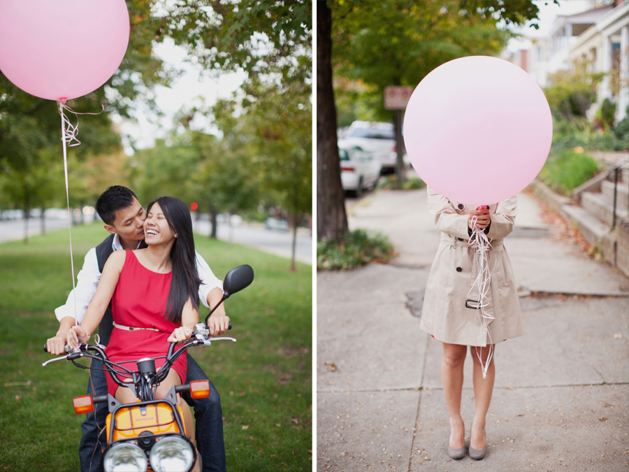 engagement props balloons
