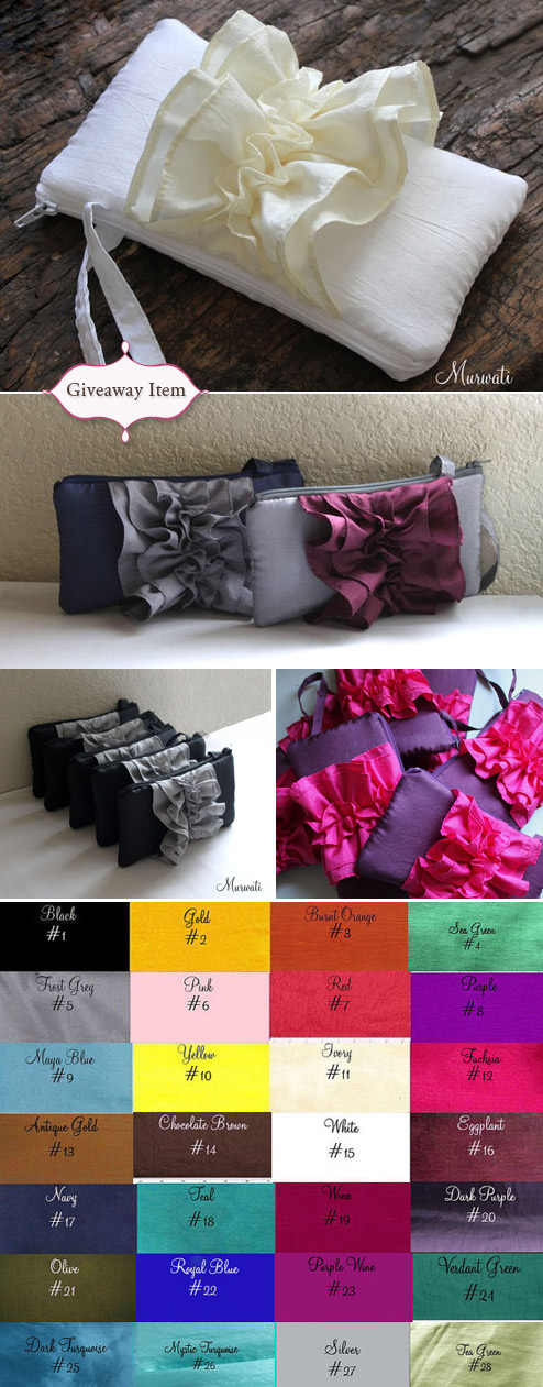 wedding clutch giveaway