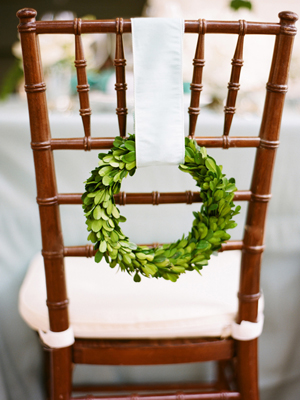 wedding chair wreath