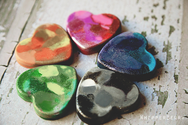 DIY crayon heart tutorial