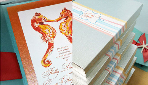 Wedding Invitations by My Personal Artist – Handmade Beach Wedding Invitations