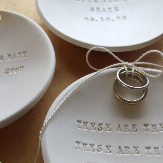 Buy or DIY Wedding Ring Dishes