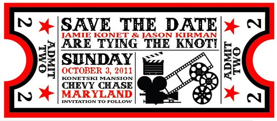movie ticket save the date
